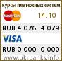 Курс RUB в системах Visa и MasterCard
