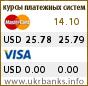 Курс USD в системах Visa и MasterCard
