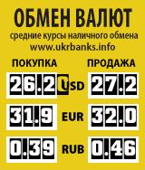 Курсы наличного обмена валют в Украине
