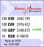 Foreign currency exchange rate for NBU (Ukraine)