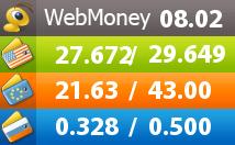 Курсы обмена валют Webmoney